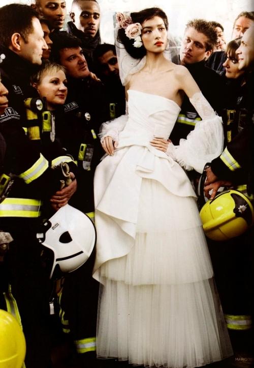 Wedding Belles: MarioTestino Vogue UK May 2011 Fei Fei Sun
